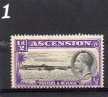 1934 GV 1/2d MNH - Ascension