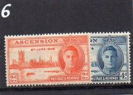 1946 Victory Pair MNH - Ascension