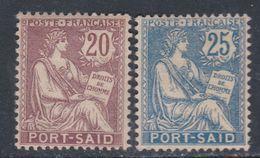 Port-Saïd N° 27 / 28 X Partie De Série Les 2 Valeurs Trace De Charnière, Sinon TB - Neufs
