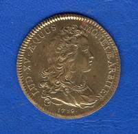 Louis  Xv  1719  Bronze - Royaux / De Noblesse