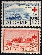 Algérie N° 300 / 01 X  Au Profit De La Croix-Rouge, La Paire  Trace De Charnière Sinon TB - Algérie (1924-1962)
