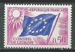 France Timbres De Service YT N°32 Drapeau Du Conseil De L'Europe Neuf ** - Service