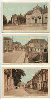 LOT 3 CP Sépia & Bleu - LE LION D'ANGERS Avenue Gare* Rue Du Marché * La Grande Rue Et L'Hôtel ( Des Voyageurs ) - France