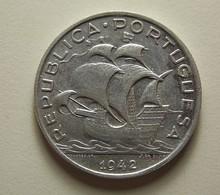 Portugal 5 Escudos 1942 Silver - Portugal