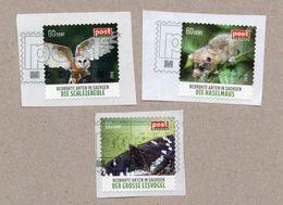 Privatpost - PostModern - Gest.- 3 W Tiere (Großer Eisvogel, Haselmaus, Schleiereule) - Briefmarken