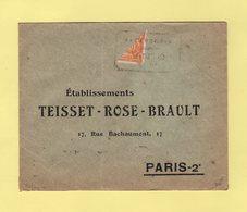 Bolivie - Timbre Coupé Sur Lettre - Destination Paris - 1928 - Rare - Bolivie