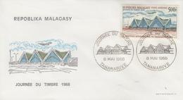 Enveloppe  FDC  1er  Jour   MADAGASCAR    Journée  Du  Timbre   1968 - Madagascar (1960-...)