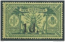 Nouvelles Hébrides N° 67 X Timbre Surchargé 1 D. Sur 5 S.. Légende Anglaise  Trace De Charnière  Sinon  TB - Légende Française