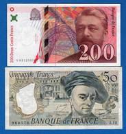 France  2  Billets - 1992-2000 Dernière Gamme
