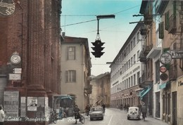 CASALE MONFERRATO-ALESSANDRIA-VIA ROMA-BELLA ANIMAZIONE-CARTOLINA VERA FOTOGRAFIA-VIAGGIATA IL 10-8-1964 - Alessandria