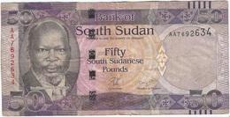 Sudán Del Sur - South Of Sudan 50 Pounds 2011 Pick 9 Ref 1 - Sudán Del Sur