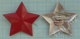 CHINA People's Liberation Army Military Cap Hat Badge Cockade Red Star Communism MAO. 1960s - Army