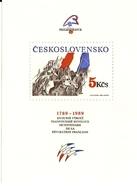 ** A 2896 Czechoslovakia - 200 Years Of The Fall Of Bastille 1989 - Révolution Française