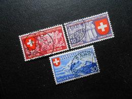 CH ZNr.219-221 - Satz - Deutscher Text - 1939 - Z CHF 5.50 - Switzerland
