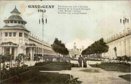 GAND-GENT - Exposition De 1913 - Pavillon De La Grande-Bretagne - Oblitération De 1913 - Expositions