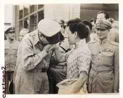 GRANDE PHOTO ANCIENNE TAÏWAN FORMOSA GENERAL DOUGLAS MACARTHUR CHIANG KAI-SHEK Tchang Kaï-chek CHINE CHINA GUERRE - Taiwan