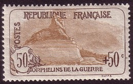 Y&T N°153, Orphelins: 50c +50c Brun Et Brun-clair, Très Bon Centrage Neuf * - France