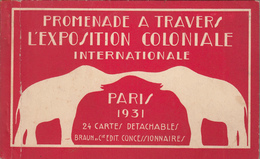 PARIS - EXPOSITION COLONIALE 1931 - Carnet De 24 Cartes - Exposiciones