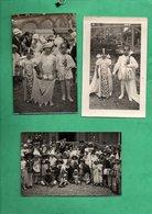 76 Seine Maritime Veules Les Roses Lot De 3 Cartes Photo Années 20 Fete Avec Enfants Deguisés ( Format 9cm X 14cm ) - Veules Les Roses