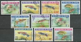 Guinée YT N°177/186 Poissons Oblitéré ° (Voir Description) - Guinée (1958-...)