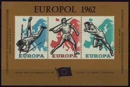 Belgien Belgie Belgium 1962 - Souvenir Block EUROPOL - Sport - EUROPA - Briefmarken