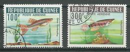 Guinée Poste Aérienne YT N°38/39 Poissons Oblitéré ° (Voir Description) - Guinea (1958-...)