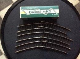 HORNBY-acHO MECCANO-TRIANG 6 1/2 Rails Courbes A 1 Coupure Ref.7641 - Rails