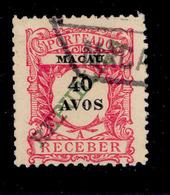 ! ! Macau - 1911 Postage Due 40 A - Af. P 20 - Used - Postage Due