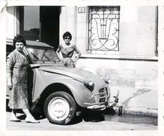 PHOTO ANCIENNE AUTOMOBILE 2 CHEVAUX CITROEN DEUDEUCHE 2CV CAR VOITURE - Coches