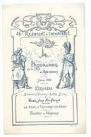 Programme Militaria Fête Du 46 ème Régiment D' Infanterie Fête Du Régiment Kermesse Soldat Tirailleurs 1912  Dos Vierge - Programme