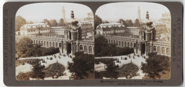 Stereo-Fotografie American Stereoscopic Co., New York, Ansicht Dresden, Zwinger And Royal Palace Grounds - Stereoscopio