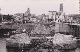 Carte Photo : Compiegne (60)  Le Pont Détruit 2° Guerre Mondiale Pas D'éditeur  Rare - Compiegne