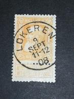 COB N° 79 Oblitération Lokeren 08 - 1905 Grosse Barbe
