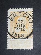 COB N° 79 Oblitération Brecht 1908 - 1905 Grosse Barbe