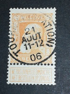 COB N° 79 Oblitération Tournai (Station) 06 - 1905 Grosse Barbe