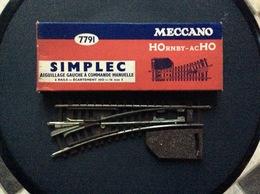 HORNBY-acHO MECCANO Aiguillage Gauche A Commandé Manuelle 2 Rails-Écartement Ho-16mm 5 SIMPLEC Ref, 7791 - Rails