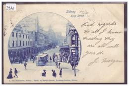 SYDNEY - KING STREET - TRAMWAY - B ( LEGER PLI D'ANGLE ) - Sydney