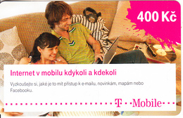 CZECH REPUBLIC - Couple. Internet V Mobilu, T Mobile Prepaid Card 400 Kc, Exp.date 13/07/16, Used - Czech Republic