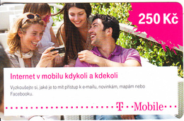CZECH REPUBLIC - People, Internet V Mobilu, T Mobile Prepaid Card 250 Kc, Exp.date 14/07/21, Used - Czech Republic