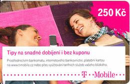 CZECH REPUBLIC - 2 Girls, T Mobile Prepaid Card 250 Kc, Exp.date 14/07/21, Used - Czech Republic