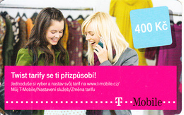 CZECH REPUBLIC - 2 Girls, Twist Tarify, T Mobile Prepaid Card 400 Kc, Exp.date 14/12/14, Used - Czech Republic