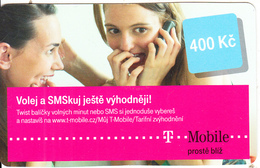CZECH REPUBLIC - Girls On Phone, T Mobile Prepaid Card 400 Kc, Exp.date 24/02/14, Used - Czech Republic