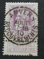 COB N° 80 Oblitération Anvers Recouvrements 10 - 1905 Grosse Barbe