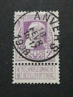 COB N° 80 Oblitération Anvers 1908 - 1905 Grosse Barbe
