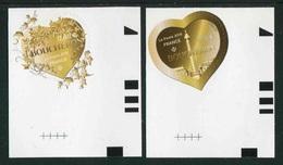 """Timbres** De 2019 Adhésifs En Coin De Feuille """"Coeurs Boucheron : Lierre & Monnaie"""" - France"""