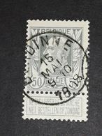 COB N° 78 Oblitération Burdinne 1908 - 1905 Grosse Barbe