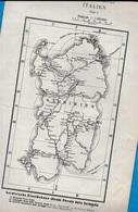 Carte Géographique Ferroviaire ITALIE Italia Sardaigne Sardegna ROMA NAPOLI (rédigée En Langue Allemande) - Cartes