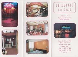 1338(1) LE BUFFET DU RAIL. Hôtel ** - Restaurant - Brasserie - Café - Pension. Saint-Omer (Pas-de-Calais), France. - Publicidad