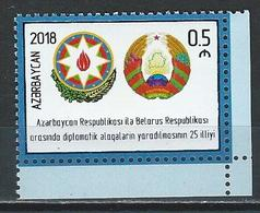 Azerbaijan. Scott #  MNH. 25th Anniv. Of Diplomatic Relations. Joint Issue With Belarus 2018 - Joint Issues
