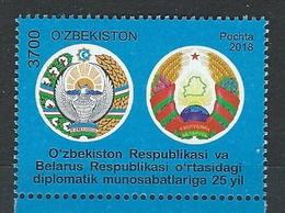 Uzbekistan. Scott #  MNH. 25th Anniv. Of Diplomatic Relations. Joint Issue With Belarus 2018 - Joint Issues